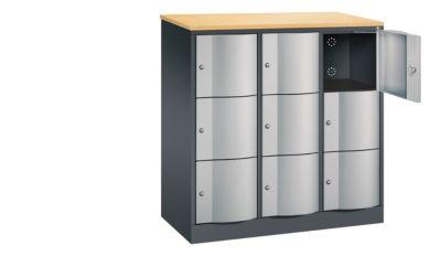 cp  CP Armoire à casiers verrouillables - h x l x p 1255 x 1150 x 540 mm,... par LeGuide.com Publicité