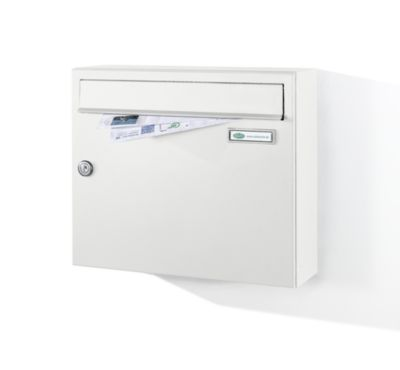 Boîte aux lettres - modèle conforme à la norme DIN EN 13724 - blanc trafic... par LeGuide.com Publicité