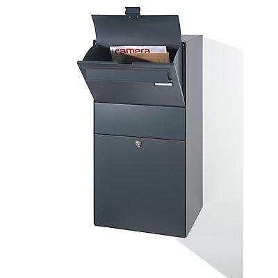 Zustellbox, mit Briefeinwurfklappe