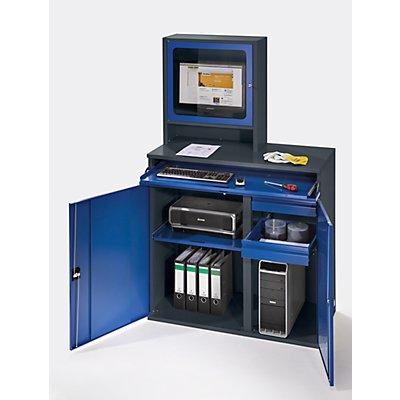 RAU Computer-Arbeitsstation - Monitorgehäuse, 1 Ausziehboden, 2 Schubladen