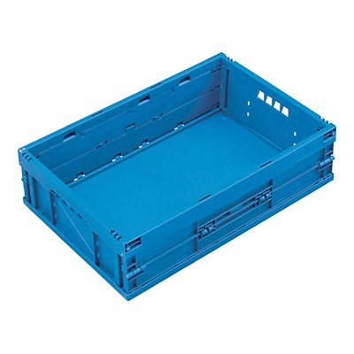 WALTHER Faltbox aus Polypropylen - Inhalt 33 l, ohne Deckel - blau