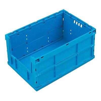 WALTHER Faltbox aus Polypropylen - Inhalt 63 l, ohne Deckel, geschlossen mit stirnseitiger Entnahmeöffnung