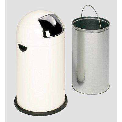 Collecteur de déchets à trappe - tôle d'acier, capacité 40 l