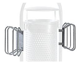 Support pour cycles, galvanisé à chaud - pour collecteur de déchets - 4 emplacements