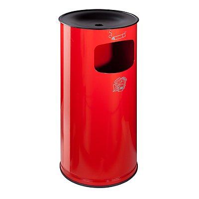 VAR Sicherheits-Kombiascher, Stahlblech - Höhe 710 mm, Abfallvolumen 44 l - anthrazit
