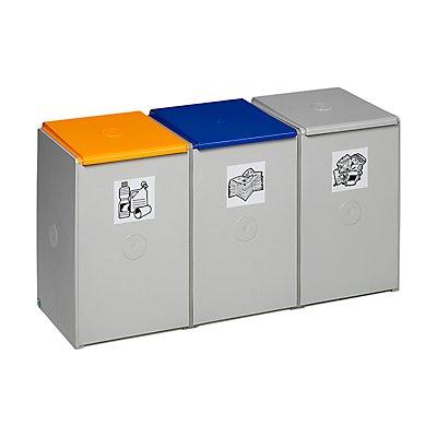 VAR Wertstoff-Trenn- und Sammelbehälter - als 3-fach Sammelstation