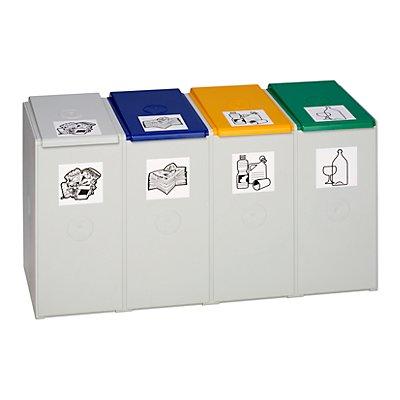 Poubelle de tri - poste 4 poubelles