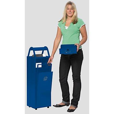VAR Abfallbehälter mit Ascher - Abfallvolumen 60 l, Aschervolumen 9 l