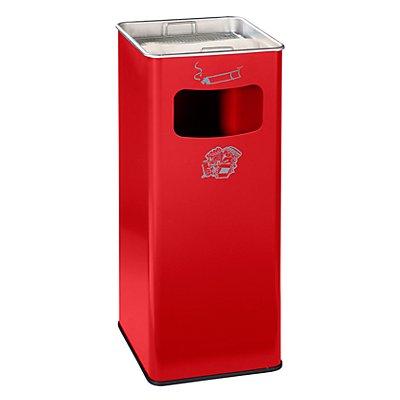 Combiné cendrier-poubelle avec cendrier à remplir de sable - h x l x p 705 x 330 x 330 mm
