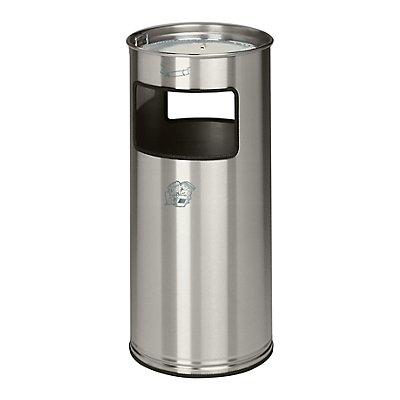 Combiné cendrier-poubelle avec cendrier à remplir de sable - hauteur 700 mm, Ø 320 mm - accès sur 2 côtés