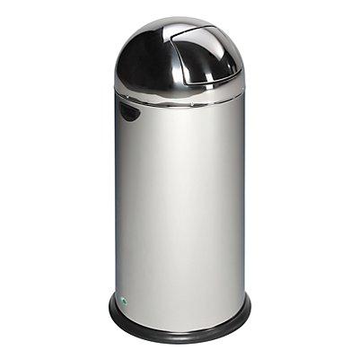 VAR PUSH-Abfallsammler - aus Edelstahl
