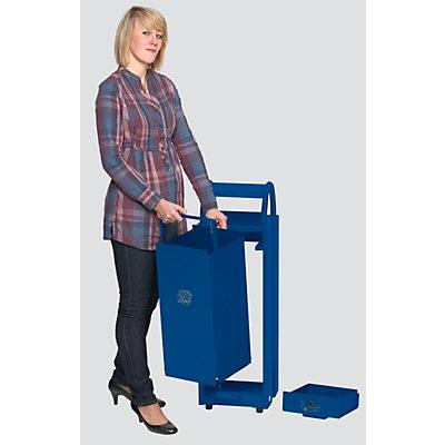 VAR Abfallbehälter mit Ascher - Abfallvolumen 35 l, Aschervolumen 5 l