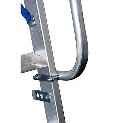Alu-Handlauf, für Stufen-Regalleiter 11 – 18 Stufen Gewicht 1,55 kg