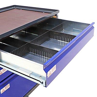 Schubladeneinteilung, 1 Längs-, 2 Querteiler aus Kunststoff