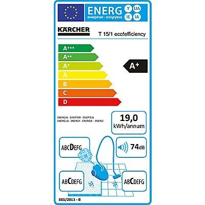 Kärcher Trockensauger T 15/1 eco!efficiency - LxBxH 406 x 320 x 434 mm, Behälterinhalt 15 l