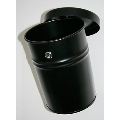 Wandabfallbehälter, abschließbar, Volumen 16 l, HxØ 340 x 245 mm