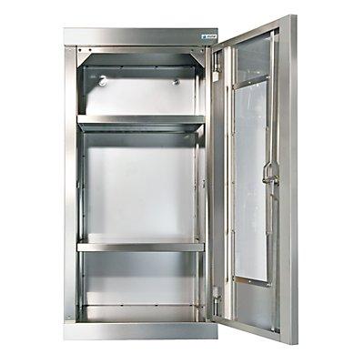 Edelstahl-Hängeschrank, mit Sichtfenstertüren