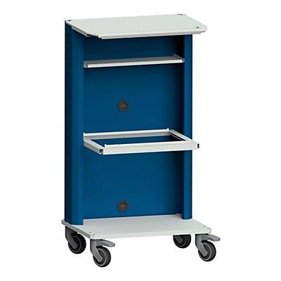 ANKE Laptop- / Gerätewagen, mit Hängeregistratur grau / blau