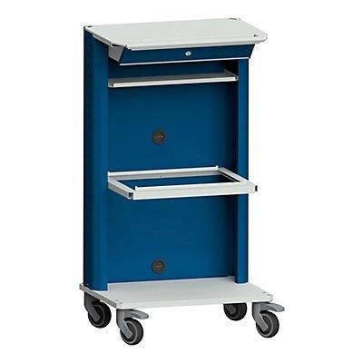 ANKE Laptop- / Gerätewagen, mit Laptopfach, Hängeregistratur grau / blau
