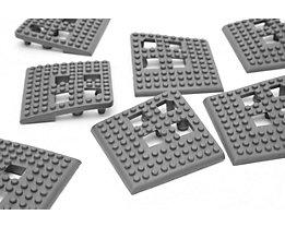 Angle de plancher Flexi - PVC, lot de 4 - gris