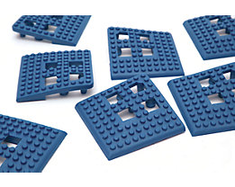 Angle de plancher Flexi - PVC, lot de 4 - bleu