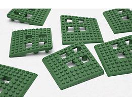 Angle de plancher Flexi - PVC, lot de 4 - vert