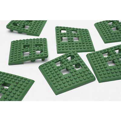 COBA Ecke für Flexi-Deck - PVC, VE 4 Stk - grau