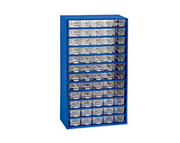 Bloc-tiroir à tiroirs translucides - h x l x p 551 x 306 x 155 mm, 60 tiroirs