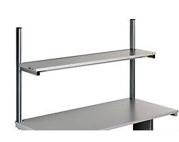 Treston Etagenbord für Arbeitstisch - lichtgrau, Höhe 1073 mm