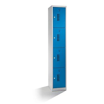 QUIPO Schließfachschrank, mit Zylinderschloss - Breite 300 mm, 4 Fächer