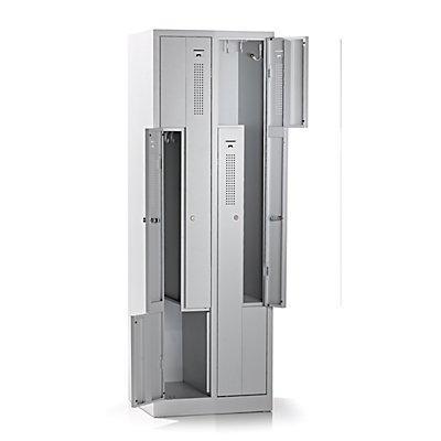 QUIPO Z-Schrank - Breite 590 mm, 4 Abteile, 4 Türen