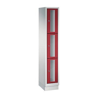 CP CLASSIC Fächerschrank, Fachhöhe 510 mm, mit Sockel, 3 Fächer, Breite 320 mm