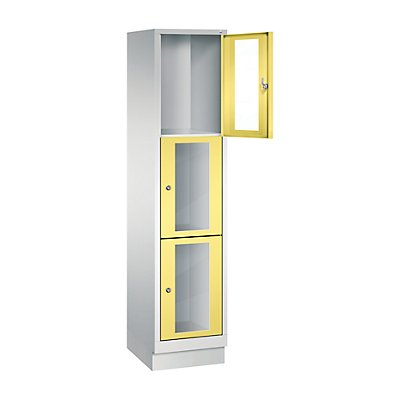 CP CLASSIC Fächerschrank, Fachhöhe 510 mm, mit Sockel, 3 Fächer, Breite 420 mm