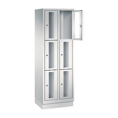 CP CLASSIC Fächerschrank, Fachhöhe 510 mm, mit Sockel, 6 Fächer, Breite 610 mm
