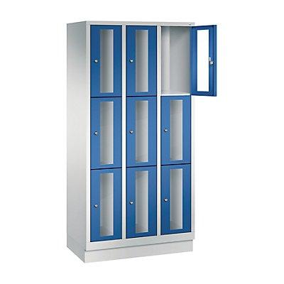 CP CLASSIC Fächerschrank, Fachhöhe 510 mm, mit Sockel, 9 Fächer, Breite 900 mm