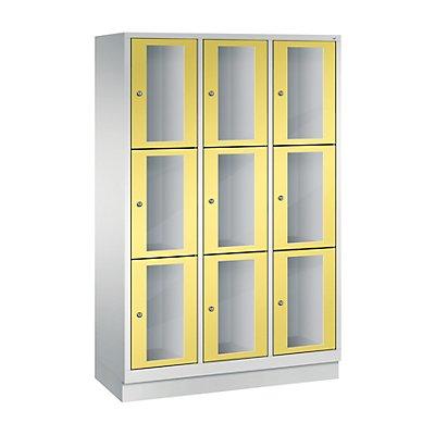 CP CLASSIC Fächerschrank, Fachhöhe 510 mm, mit Sockel, 9 Fächer, Breite 1200 mm