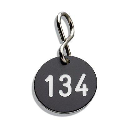 CP Kunststoff-Schlüsselanhänger, mit S-Haken, Ø 30 mm