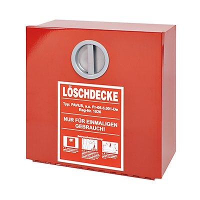 Wandbehälter für Löschdecke DIN EN 1869, HxBxT 300 x 300 x 125 mm rot