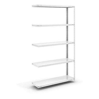 hofe Schraubregal, Bauart leicht, kunststoffbeschichtet - Regalhöhe 2000 mm, Bodenbreite 1000 mm