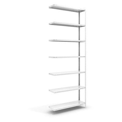 hofe Schraubregal, Bauart leicht, kunststoffbeschichtet - Regalhöhe 3000 mm, Bodenbreite 1000 mm