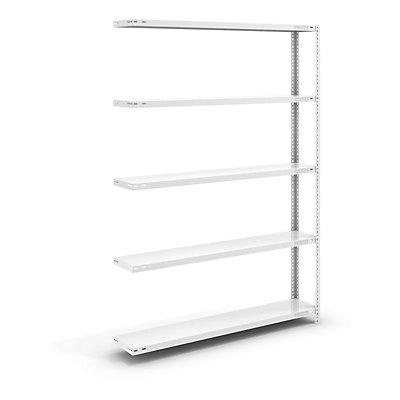 hofe Schraubregal, Bauart leicht, kunststoffbeschichtet - Regalhöhe 2000 mm, Bodenbreite 1300 mm