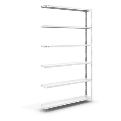 hofe Schraubregal, Bauart leicht, kunststoffbeschichtet - Regalhöhe 2500 mm, Bodenbreite 1300 mm