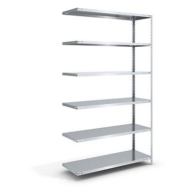 hofe Schraubregal, Bauart leicht, verzinkt - Regalhöhe 2500 mm, Bodenbreite 1300 mm