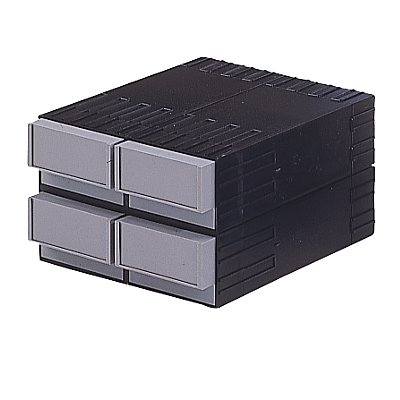 Plastipol-Scheu Kombi-Schubladensystem aus Polystyrol - mit 4 Schubladen 145 mm
