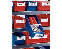 Etiquettes - pour bac de stockage - pour l x h 94 x 80 mm, lot de 500