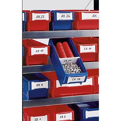 Etiketten - für Regalkasten