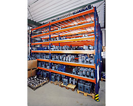 SLP Palettenregal-Boden - Gitterrostboden, Trägerlänge 2700 mm - Regaltiefe 1100 mm