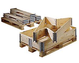 Holzaufsatzrahmen für Palette im Euroformat - klappbar mit 6 Scharnieren - Nutzhöhe 400 mm