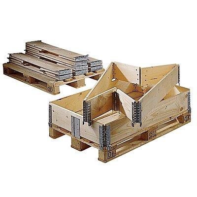 Holzaufsatzrahmen für Palette im Euroformat - klappbar mit 6 Scharnieren