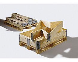 Treyer Holzaufsatzrahmen für Palette im Euroformat - klappbar mit 6 Scharnieren - Nutzhöhe 200 mm